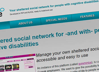 Guremintza, social network designed for people with cognitive disabilities